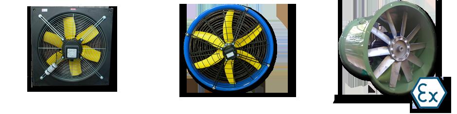 Ventilatori circolari, quadrati, economizzatori, ventilatori speciali e a norme ATEX