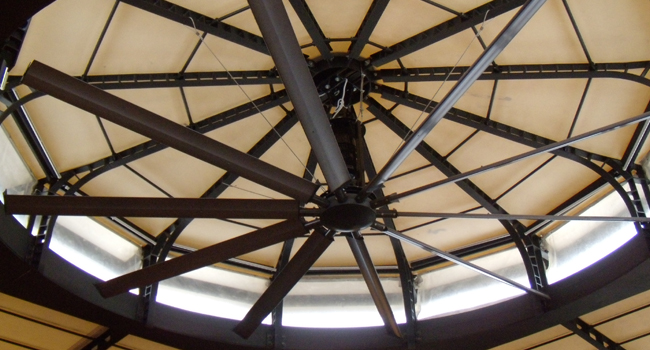 Installed impeller in a ceremony room