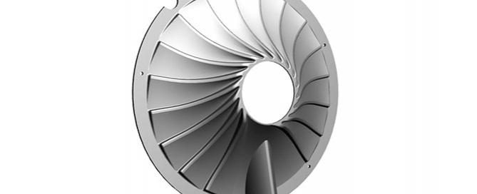 diffusore ad alette radiale